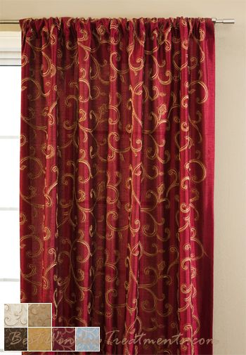 Stiletto Curtain Drapery Panels Curtains Luxury Curtains Red