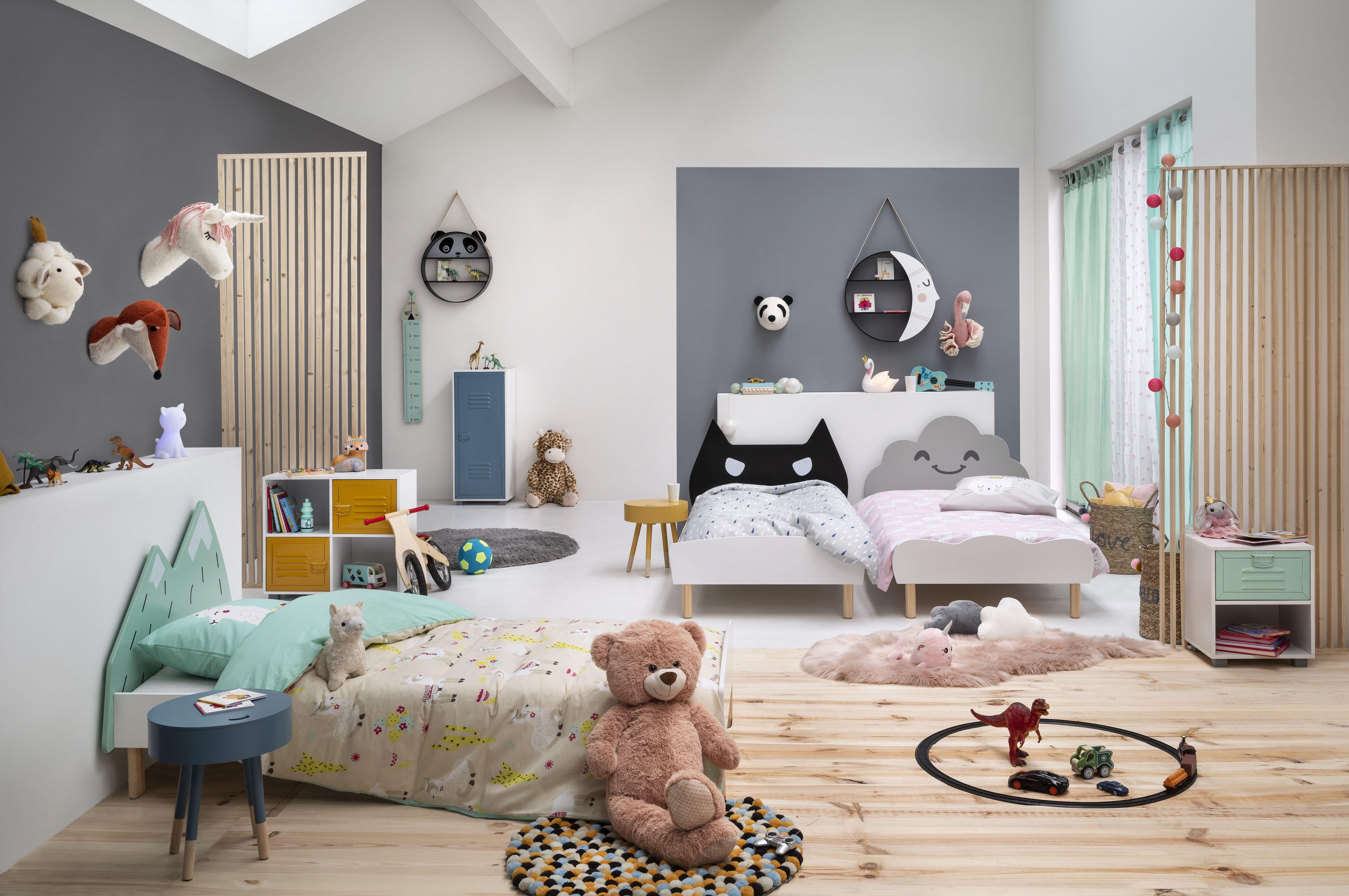 Lit Enfant Meuble Gifi Decoration Maison Tete De Lit Nuage