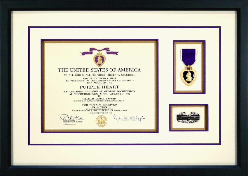 This Is An Example Of A Custom Framed Purple Heart Medal It