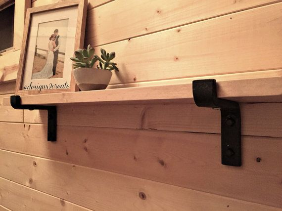 Exceptionnel Black Iron Shelf Bracket By Designs2Create On Etsy