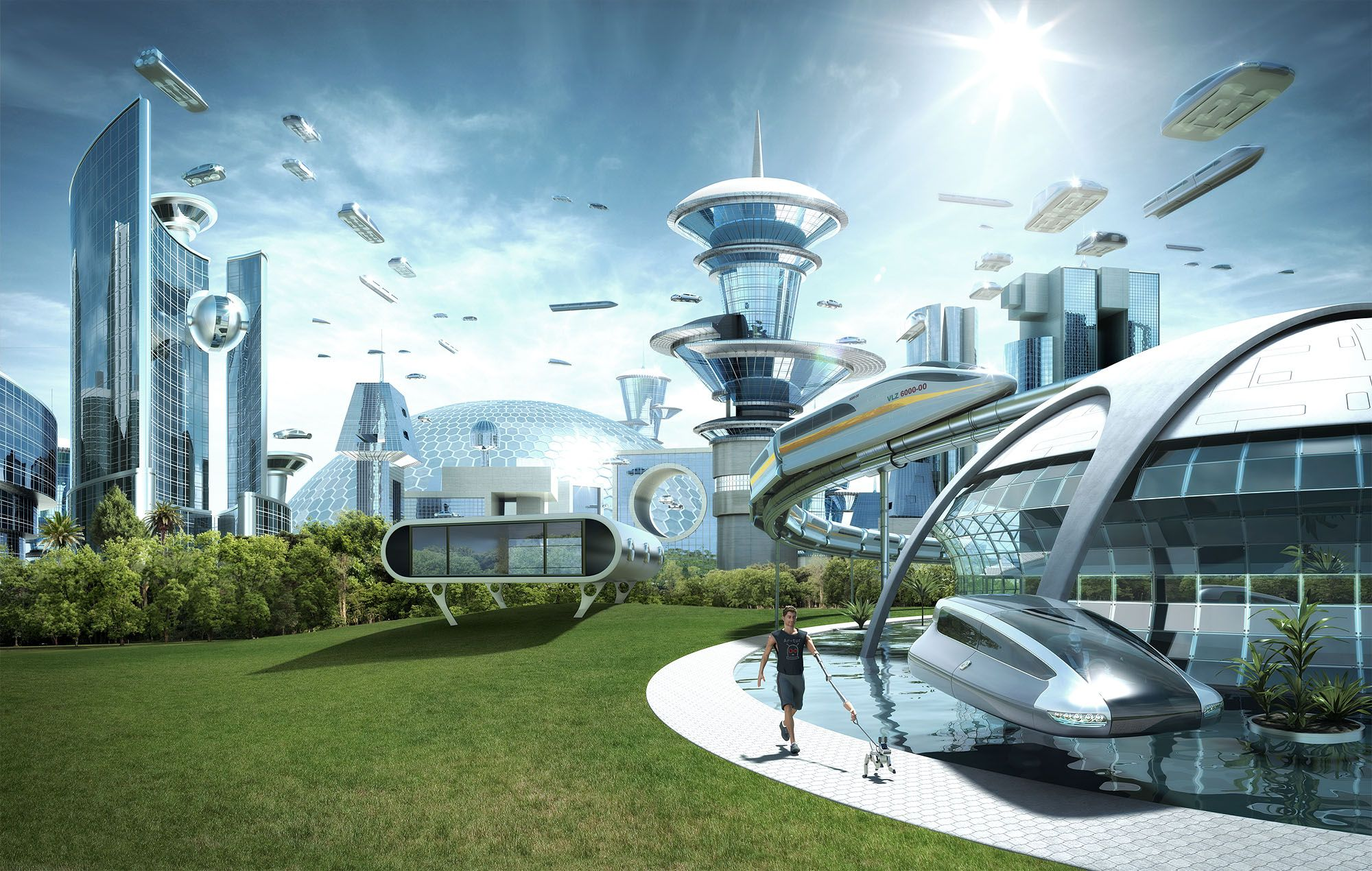 futuristic sci-fi city cities wallpaper background   Futurist ...