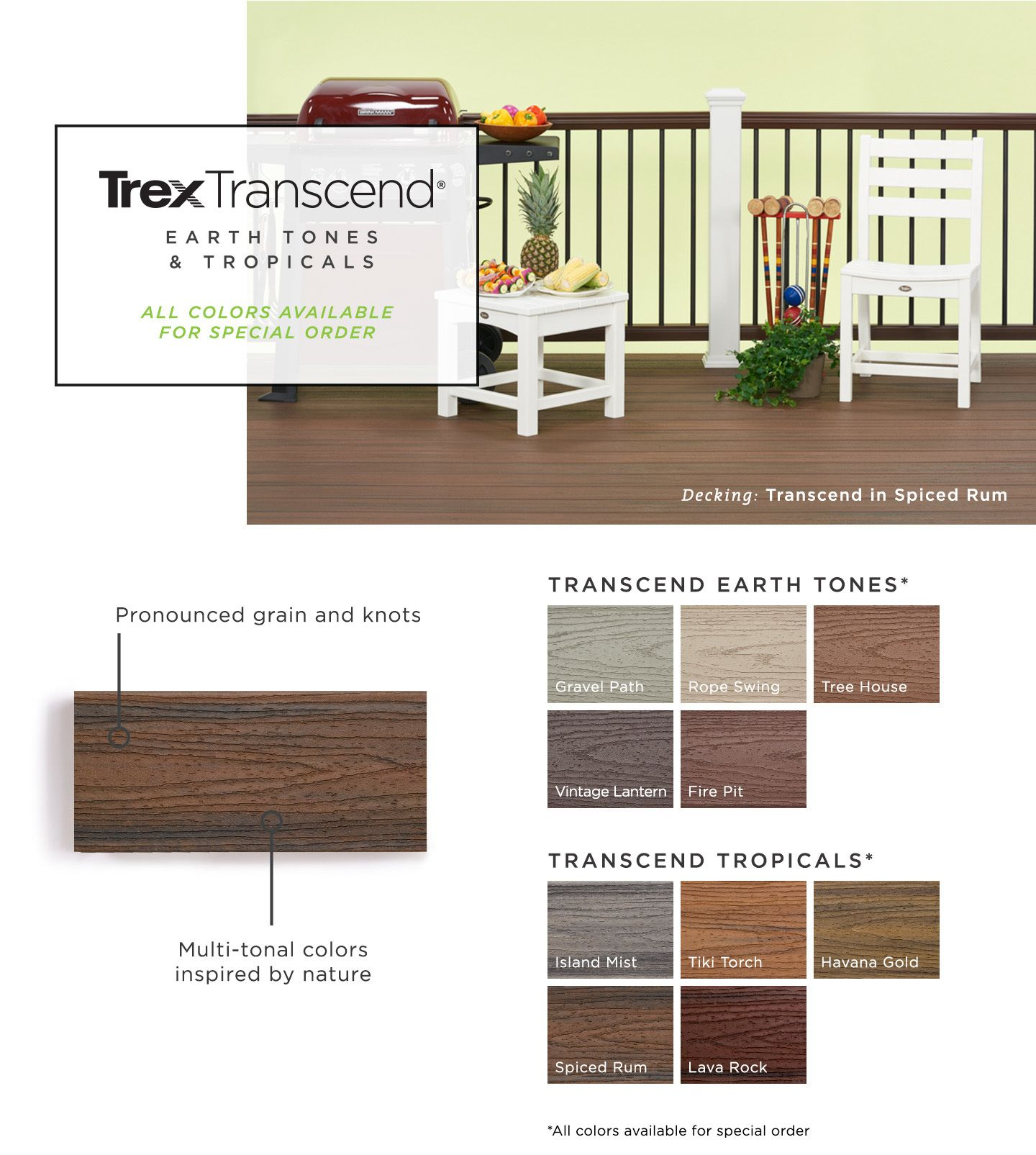 Trex Transcend 48 Pack 16 Ft Spiced Rum Grooved Composite Deck Board At Lowes Com In 2020 Composite Decking Composite Decking Boards Deck
