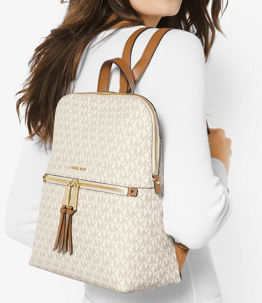 f8a371a5f6 Shop for MICHAEL Michael Kors Rhea Signature Zip Slim Backpack at  Dillards.com. Visit Dillards.com to find clothing