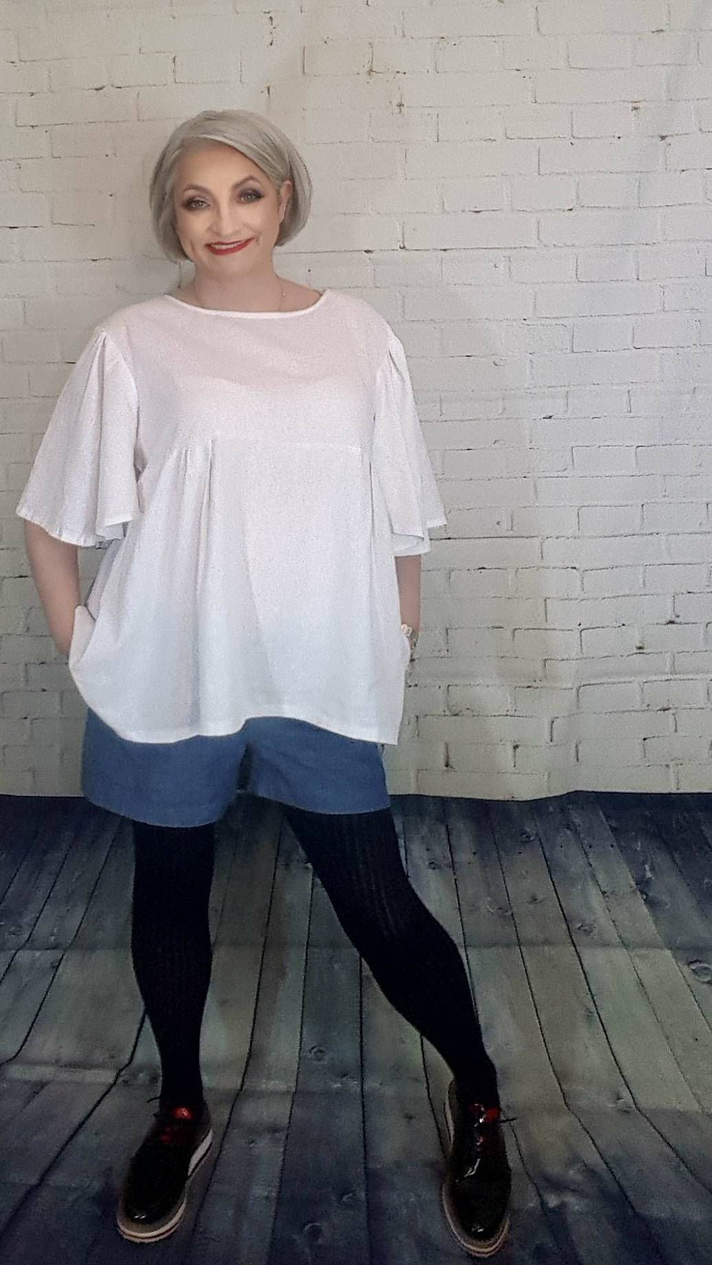 4dd14ca6d12 Affordable plus size White linen women s wide sleeve tunic XL