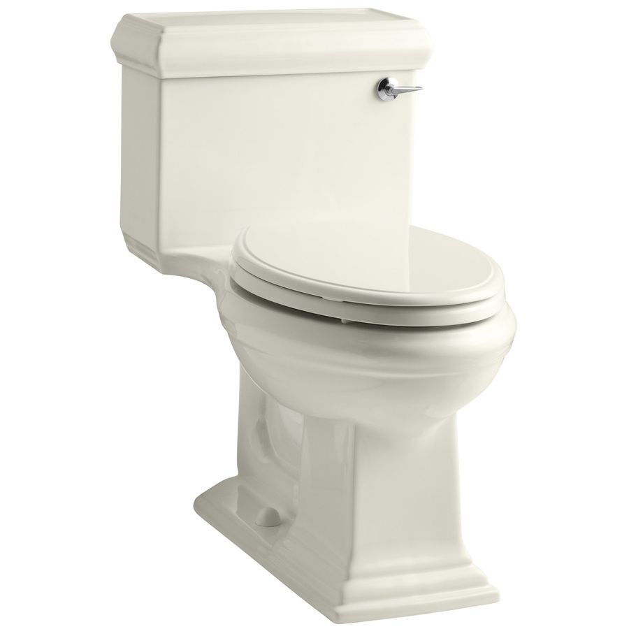 Kohler Biscuit Elongated Wood Toilet Seat