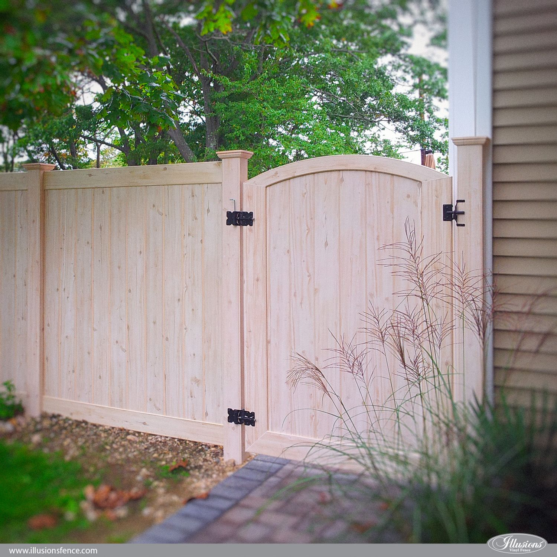 wood fence panels door. Pvc Vinyl Wood Grain Fence Walk Gate Eastern White Cedar From Illusions Panels Door