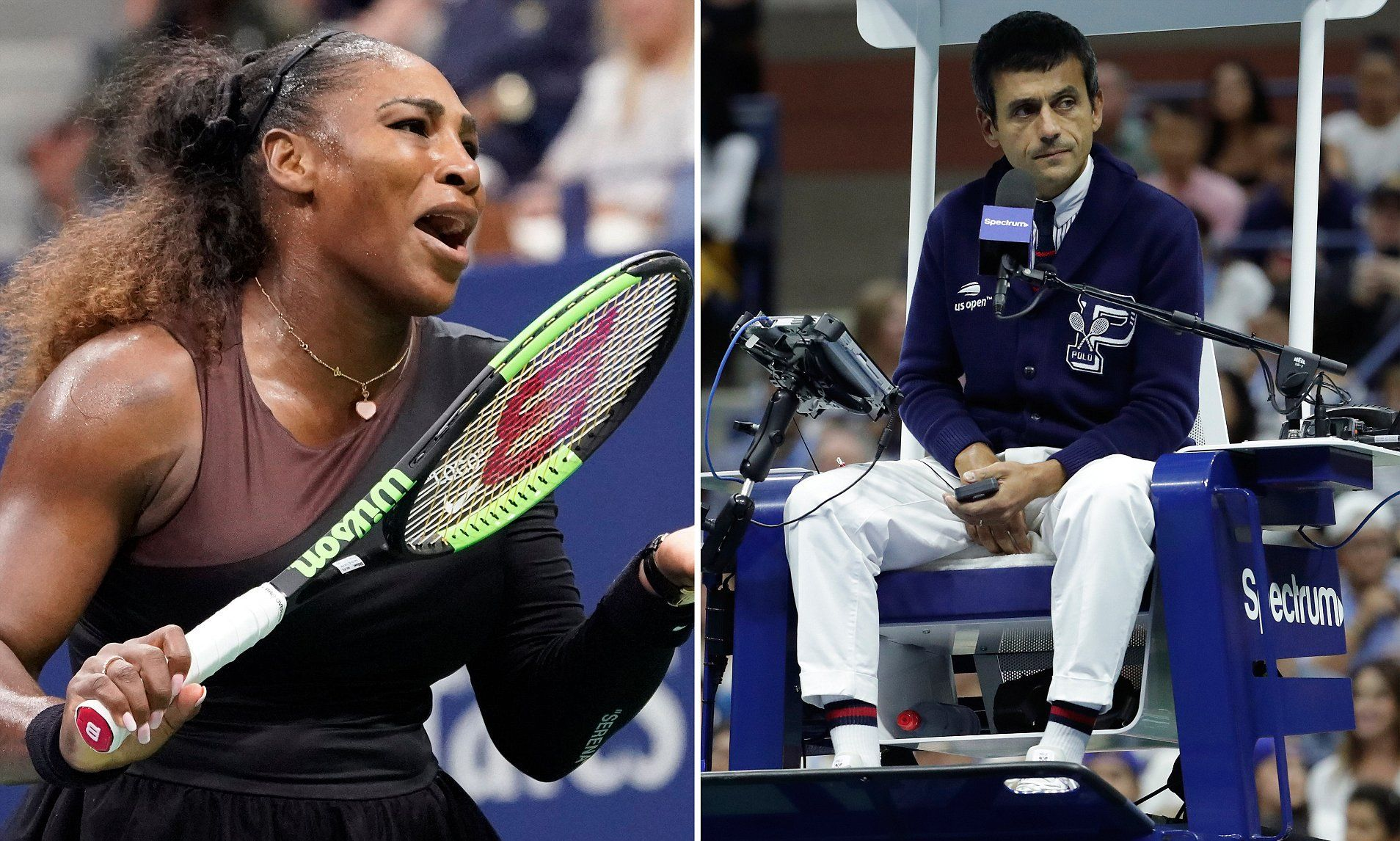 Us Open 2019 Serena Williams Issues With Umpire Carlos Ramos And Rematch With Naomi Osaka Serena Williams Tennis Venus And Serena Williams