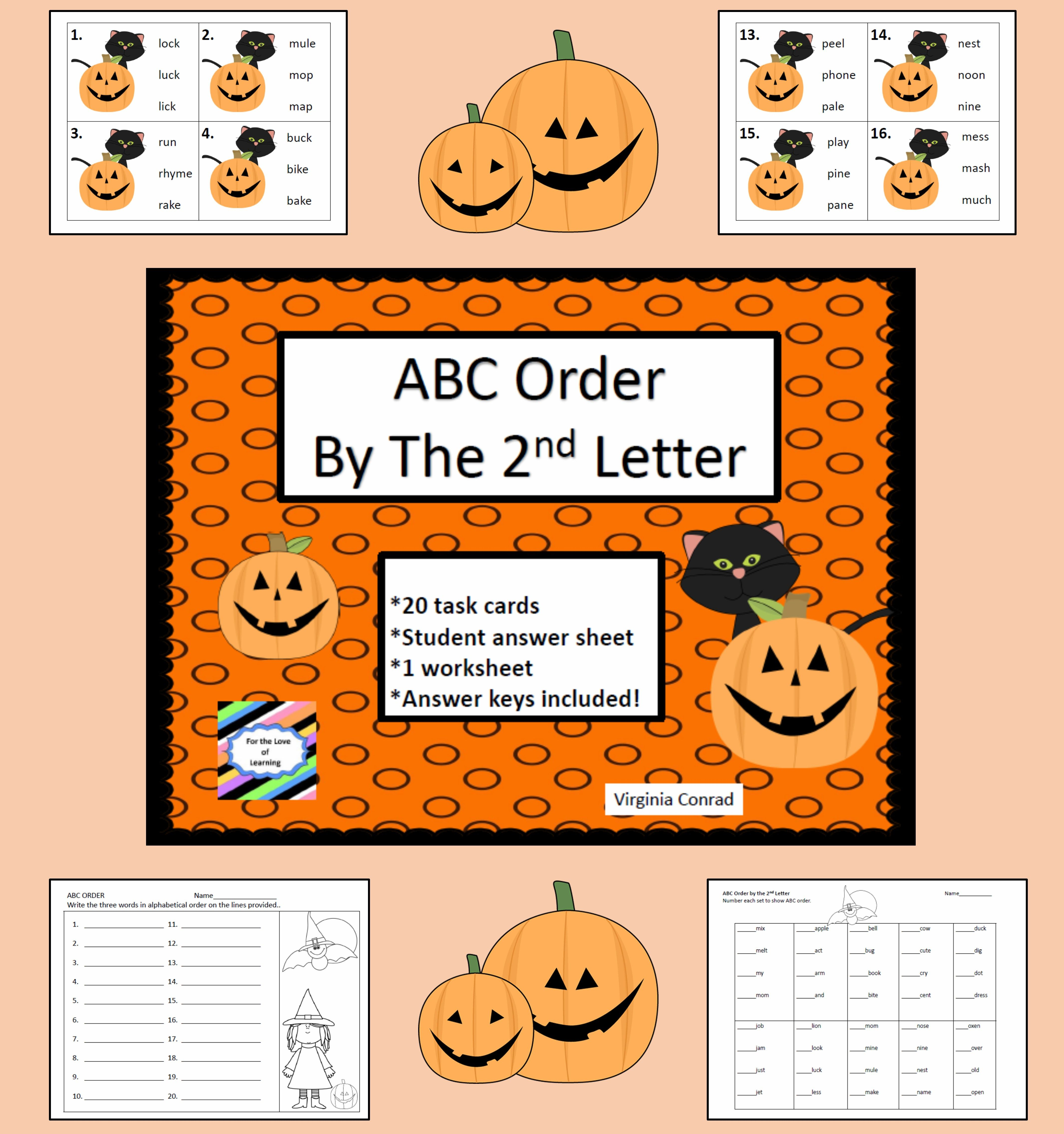 Abc Order Center Halloween Theme