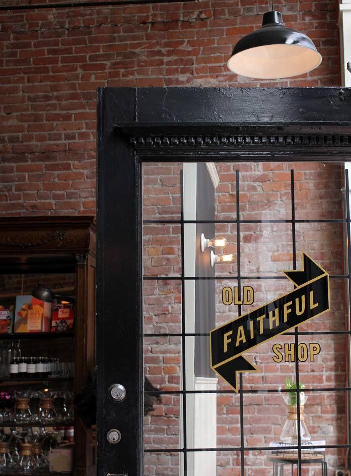 loft style glass door x wood x iron logo design cafe photos from