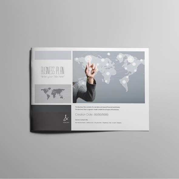 53 Pages Full Business Plan Template A4 Landscape Fully Editable