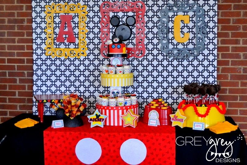 Mickey Mouse clubhouse DIY Party Decorations My Parties Addie