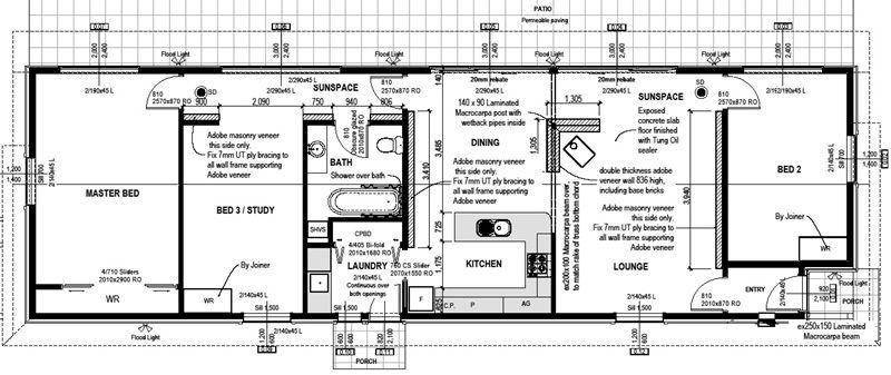 Solabode Mk1 3BR Eco House Plan | Dream Home | Pinterest | House