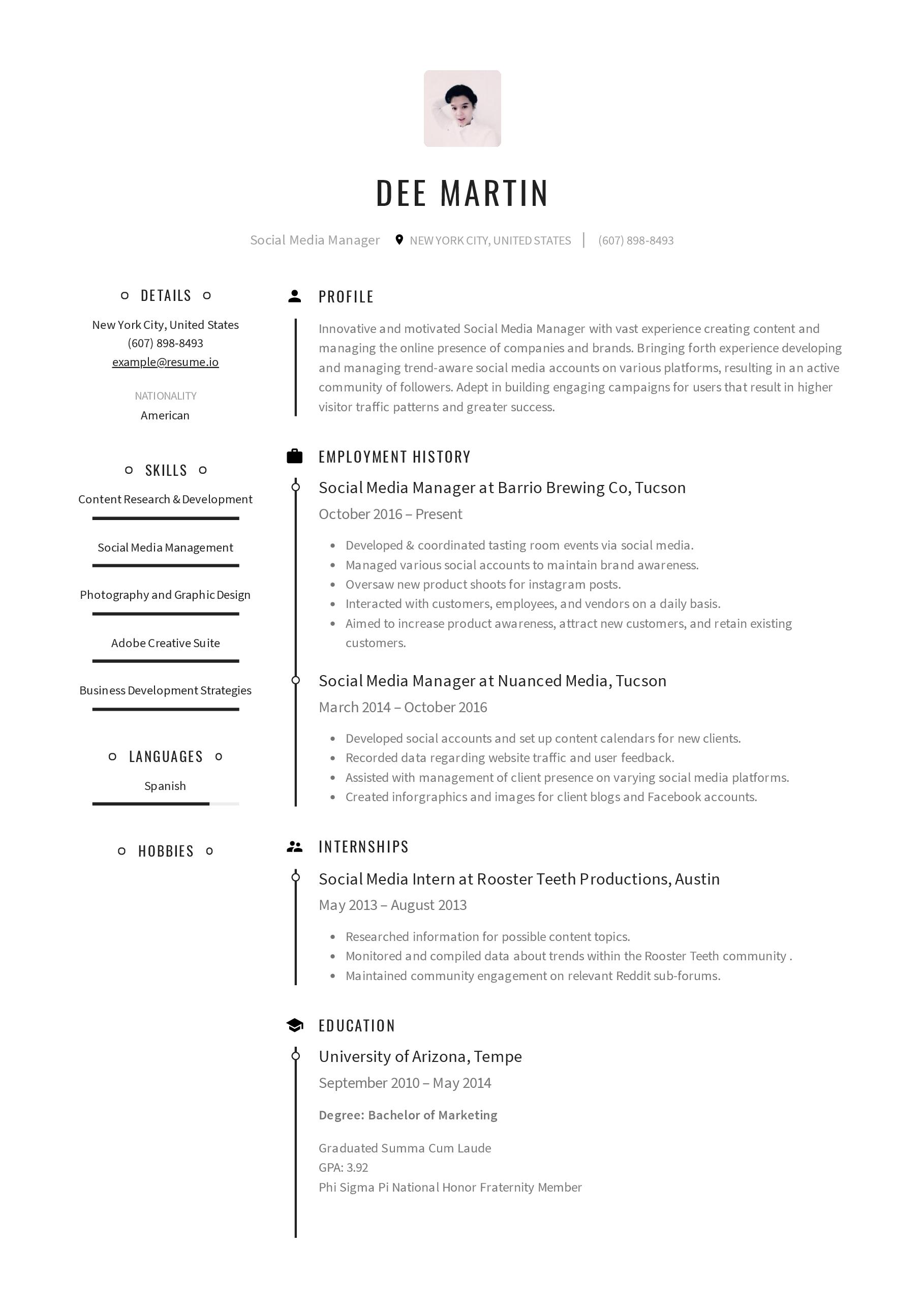 Social Media Coordinator Resume Google Search Resume Template Free Free Resume Template Word Resume Templates