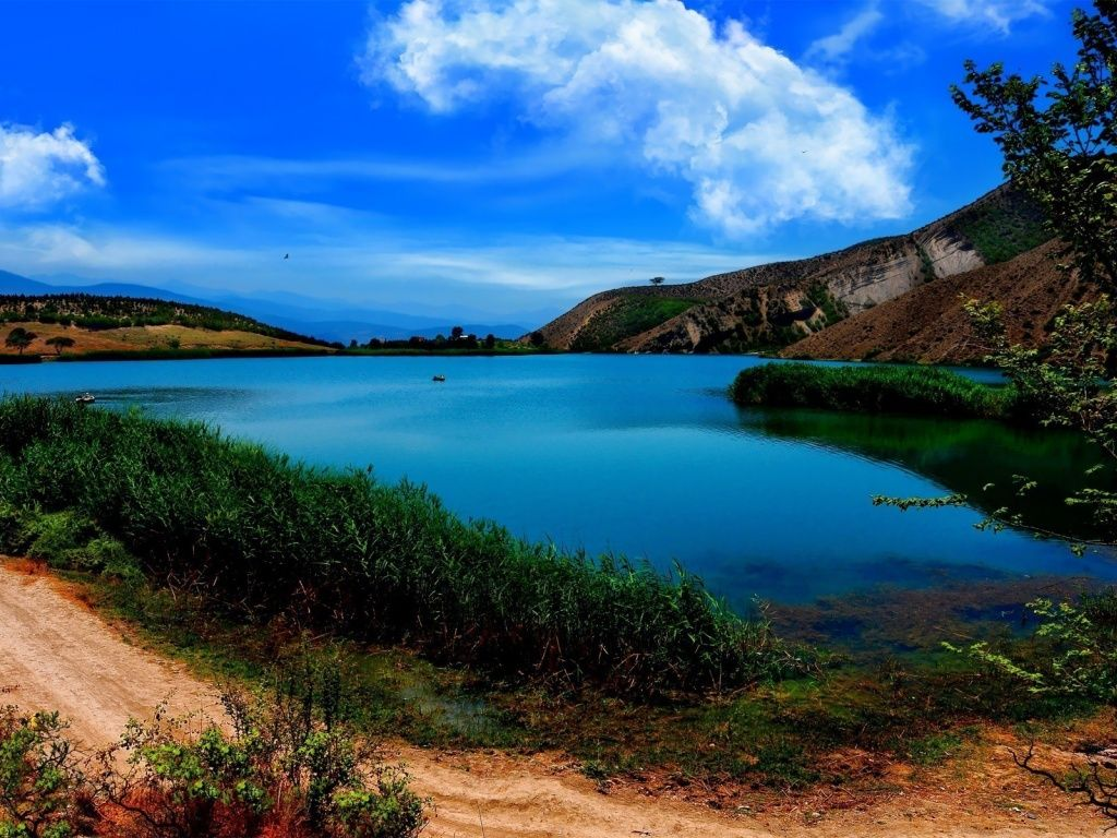Valasht Lake Iran Asia Hd Desktop Wallpaper Lake Wallpaper Asia