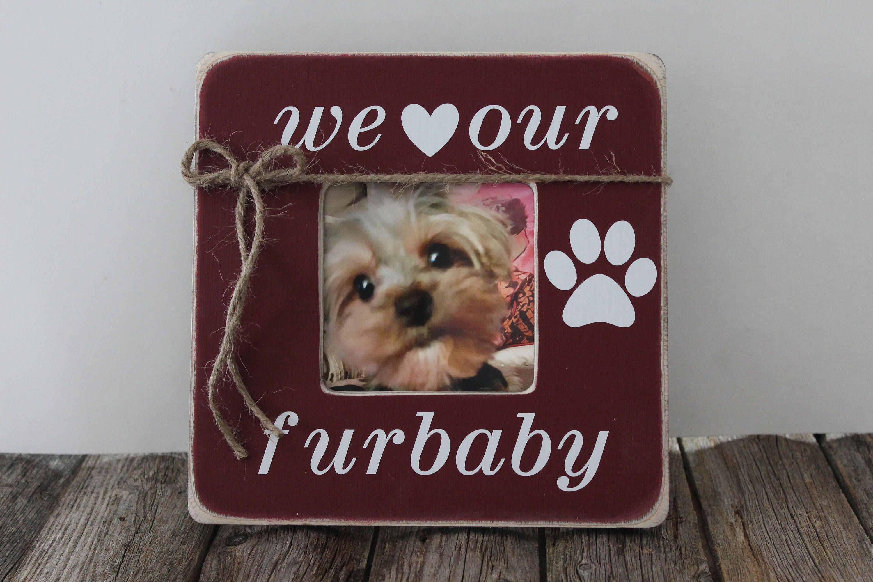 Dog picture frame we love our furbaby frame paw picture frame dog picture frame we love our furbaby frame paw picture frame pet frame jeuxipadfo Images