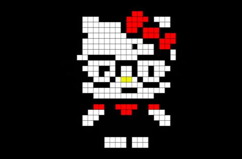 Hello Kitty Pixel Art   Brik Pixel Art Designs   Pixel art