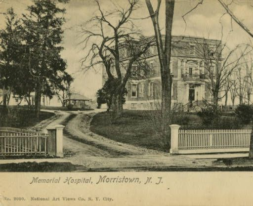 Memorial Hospital, Morris Street, circa 1900, Morristown, NJ :: The New Jersey Postcard Collection