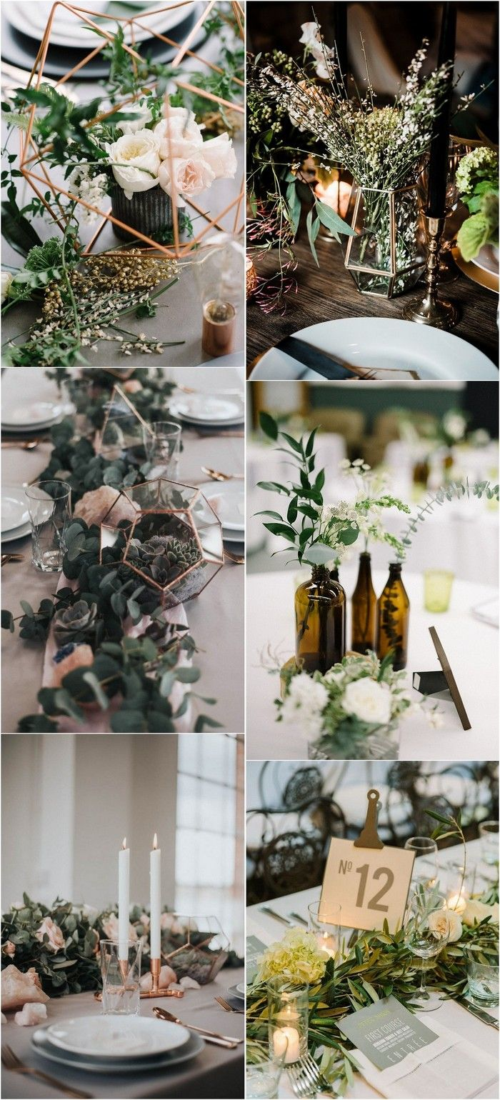 Wedding decorations with wine bottles november 2018 Trending Industrial Wedding Centerpiece Ideas for