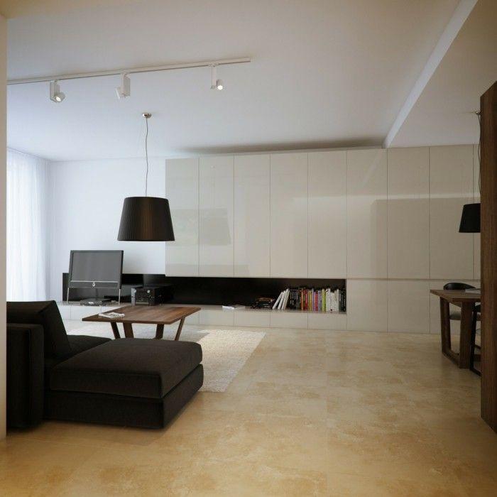 lampen wohnzimmer moderne beleuchtung schwarzes sofa | Wohnung ...