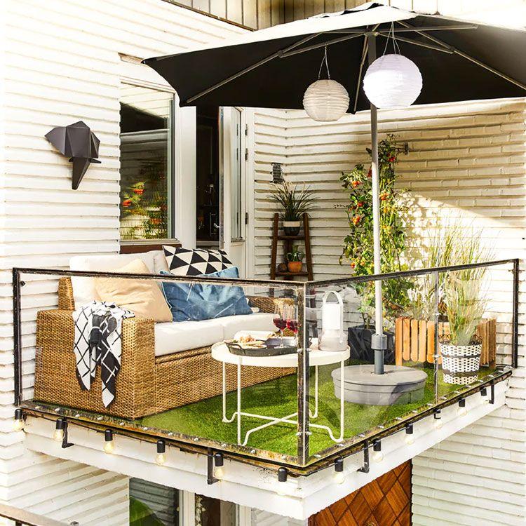 28 Idee Per Arredare Un Terrazzo Ikea Decorazione Da Balcone