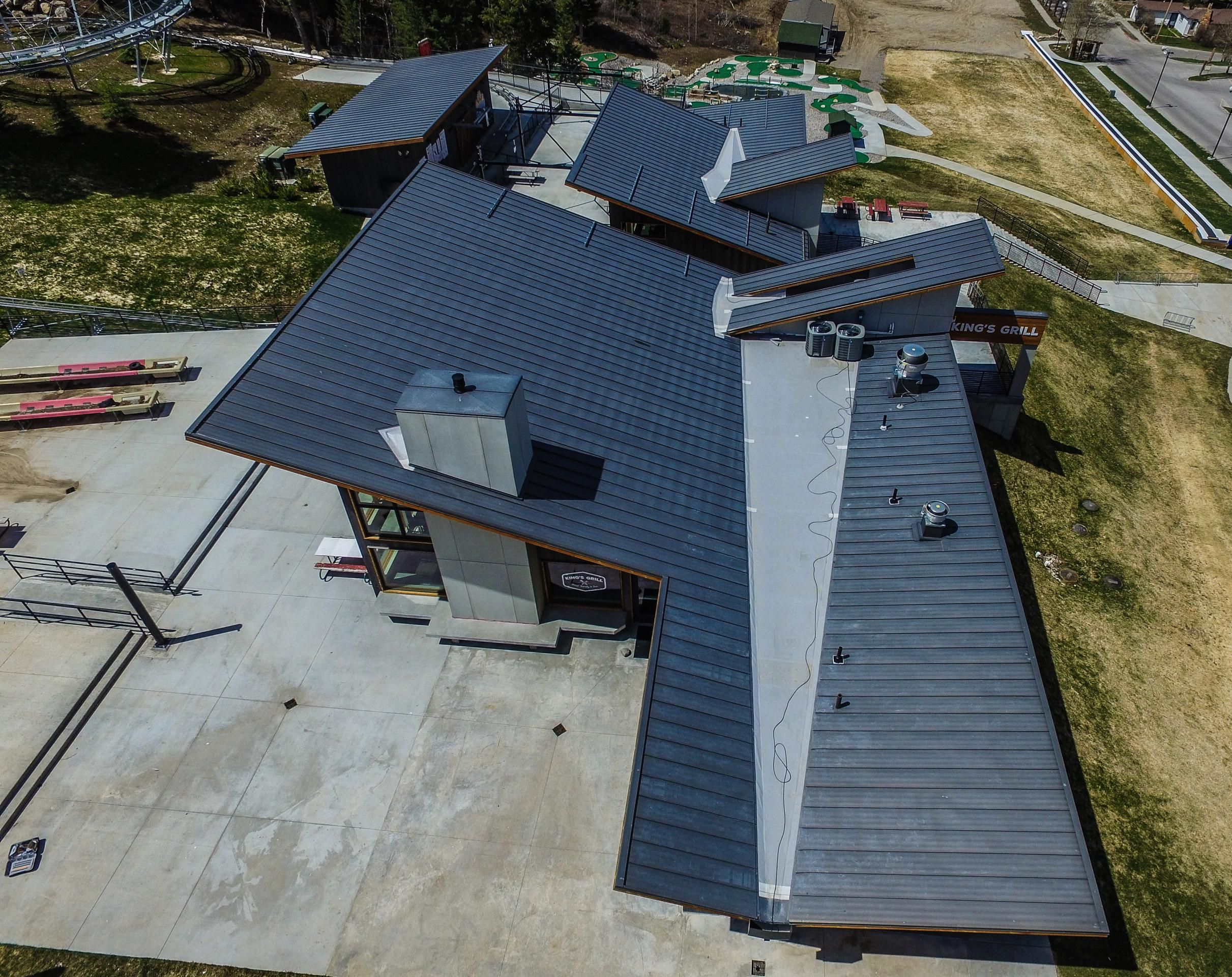 Standing Seam Metal Roofing Bonderized Patio Roof Roof Design House Roof