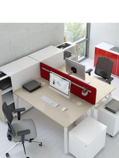 Bureau Bench Gaia Gamme Ideal Pour Les Amenagements D Open Space A