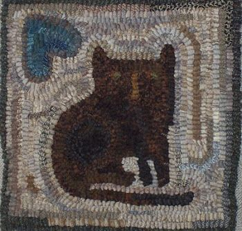 See Them Here First Hooked rugs primitive, Rug hooking