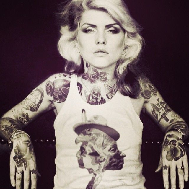 What If Debbie Harry Was Heavily Tattooed Drawn By IndianGiver - Artist reimagines celebrities covered in tattoos