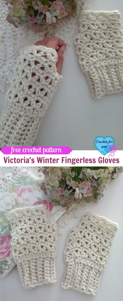 Victoria\'s Winter Crochet Fingerless Gloves Free Pattern | mitones ...