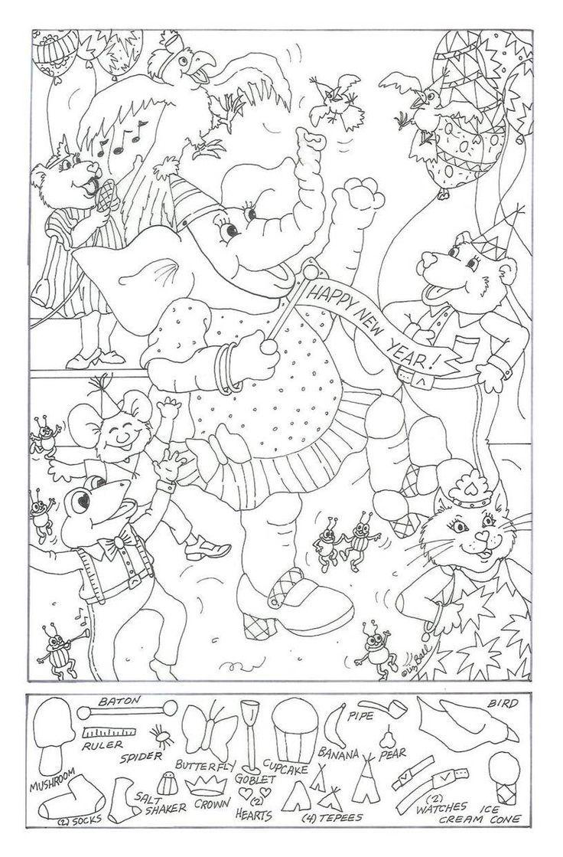 Hidden Picture Coloring Worksheets Buku Mewarnai Buku Warna