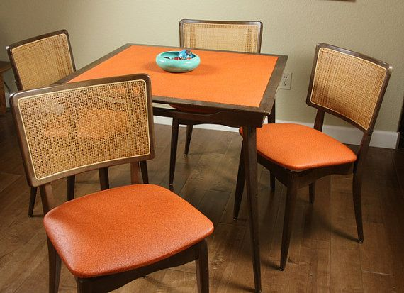 Vintage Folding Table Set Stakmore Mcm Dining By Gooseberryvintage