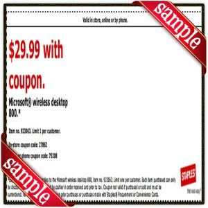 image about Staple Printable Coupons called Staples Printable Coupon December 2016 Printable Accurate