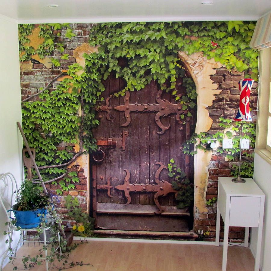 self adhesive secret garden wallpaper mural by oakdene designs