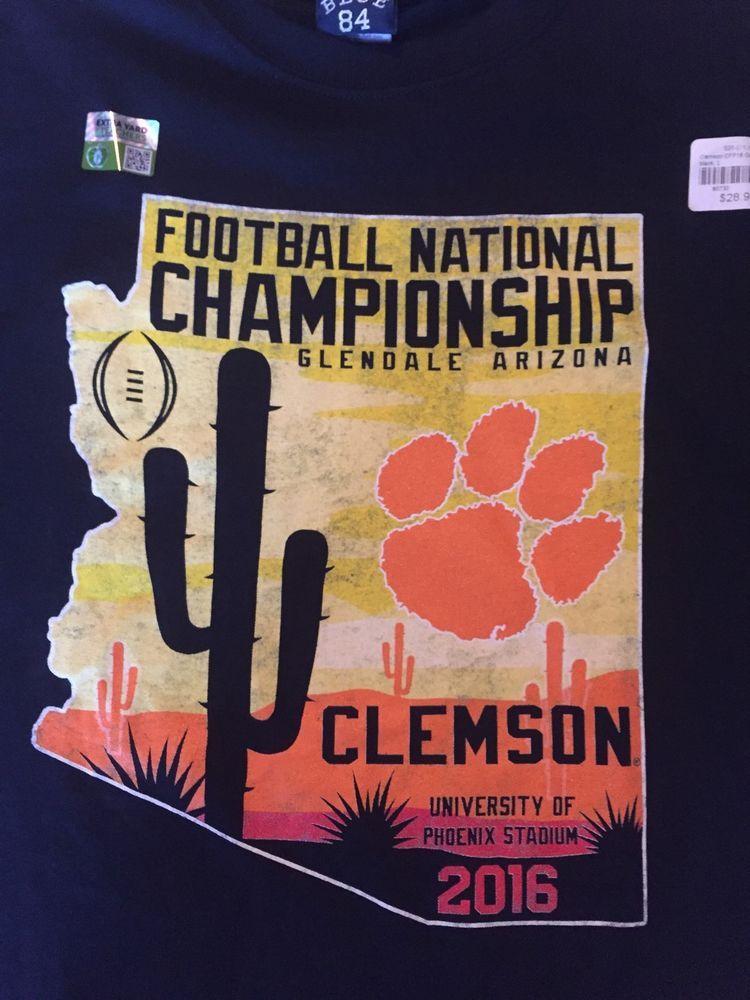 Clemson Tigers Football National Championship 2016 Glendale Arizona Men's Shirt #Blue84 #ClemsonTigers