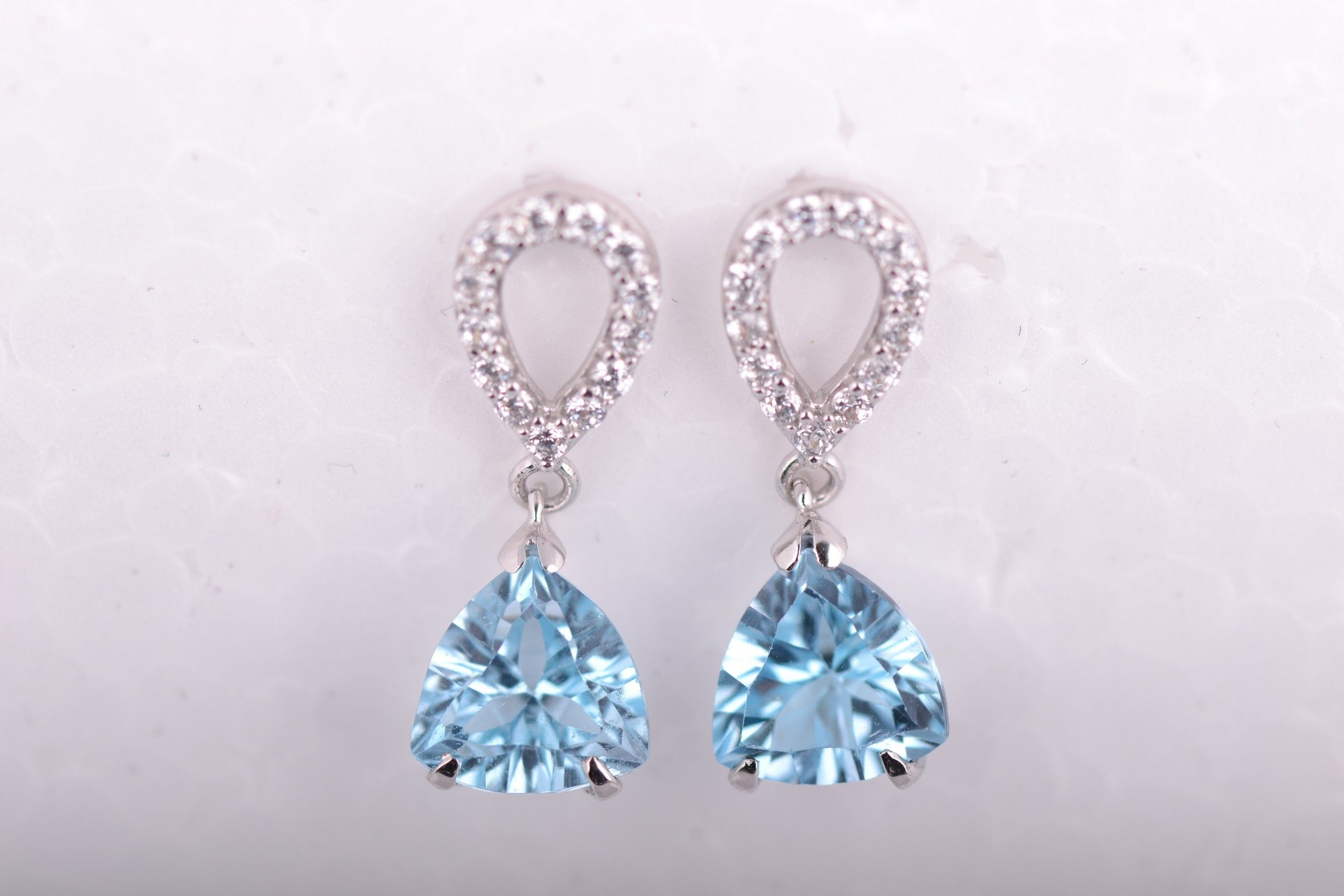 Gorgeous turquoise  drop earrings- Silver Company