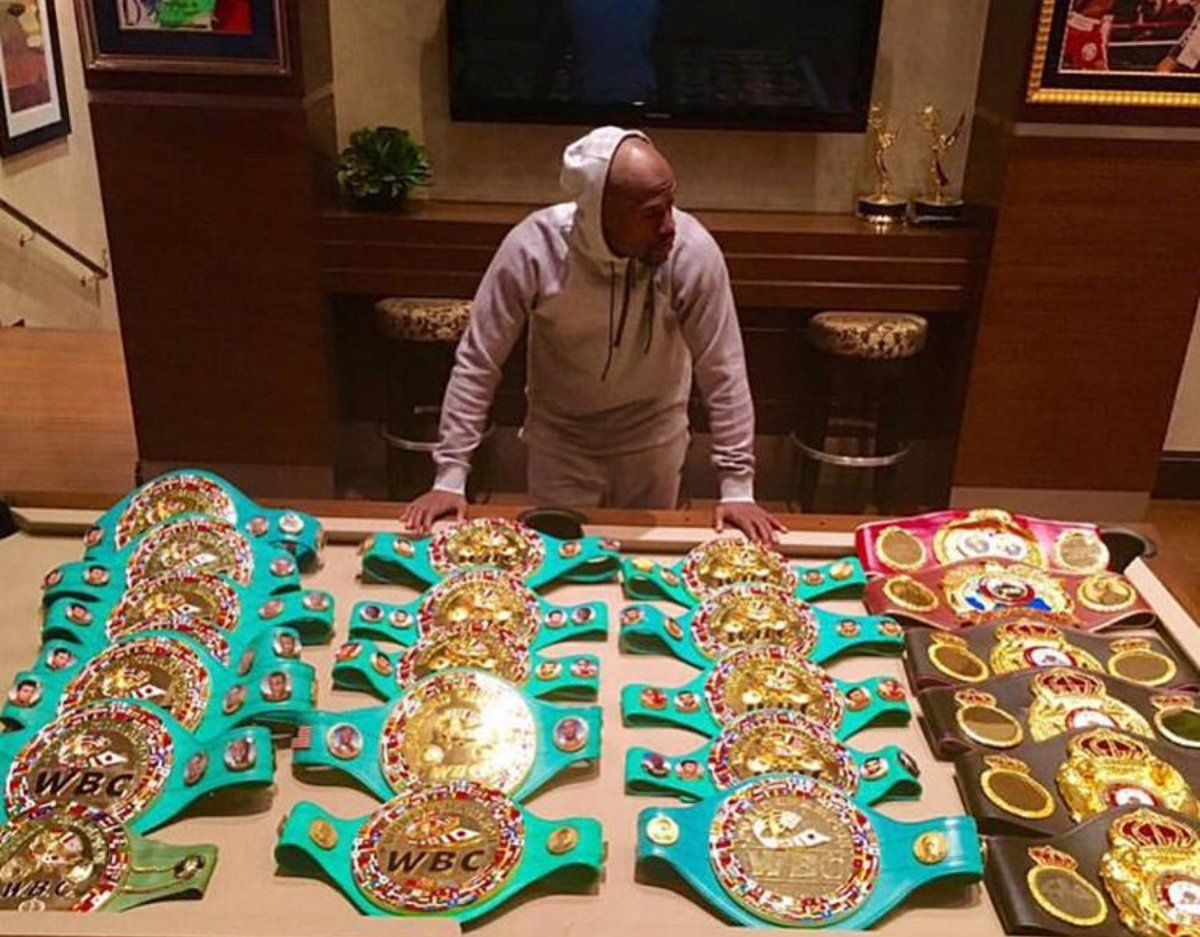 Floyd Mayweather Belts Collection