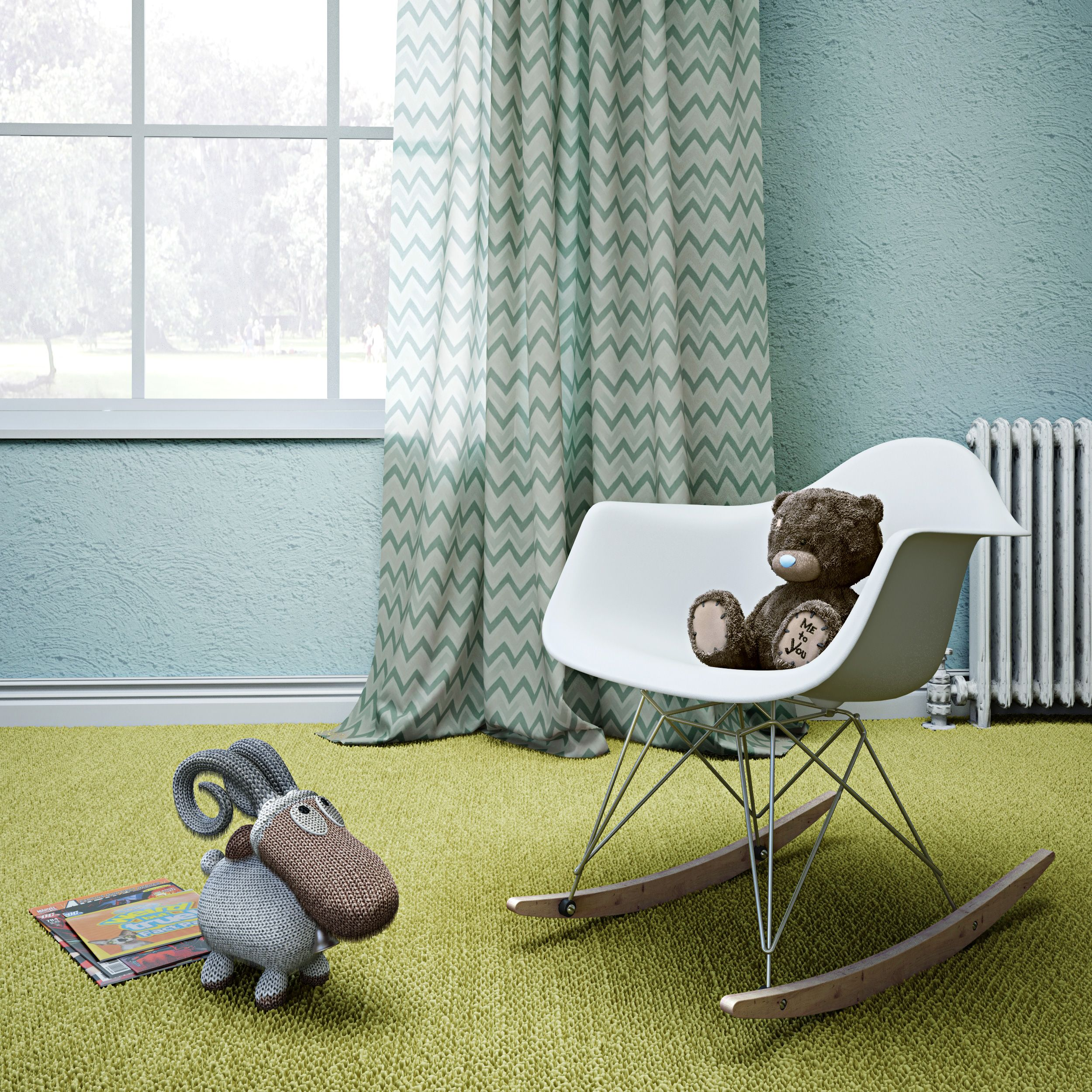 Add An Ultra Modern Touch To Your Nursery With A Zuo Rocket Chair