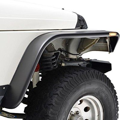E Autogrilles Flat Style Front Rear Fender Flares With Side Led Lights For 97 06 Jeep Wrangler Tj 17192 Fender Flares Jeep Wrangler Jeep Wrangler Tj