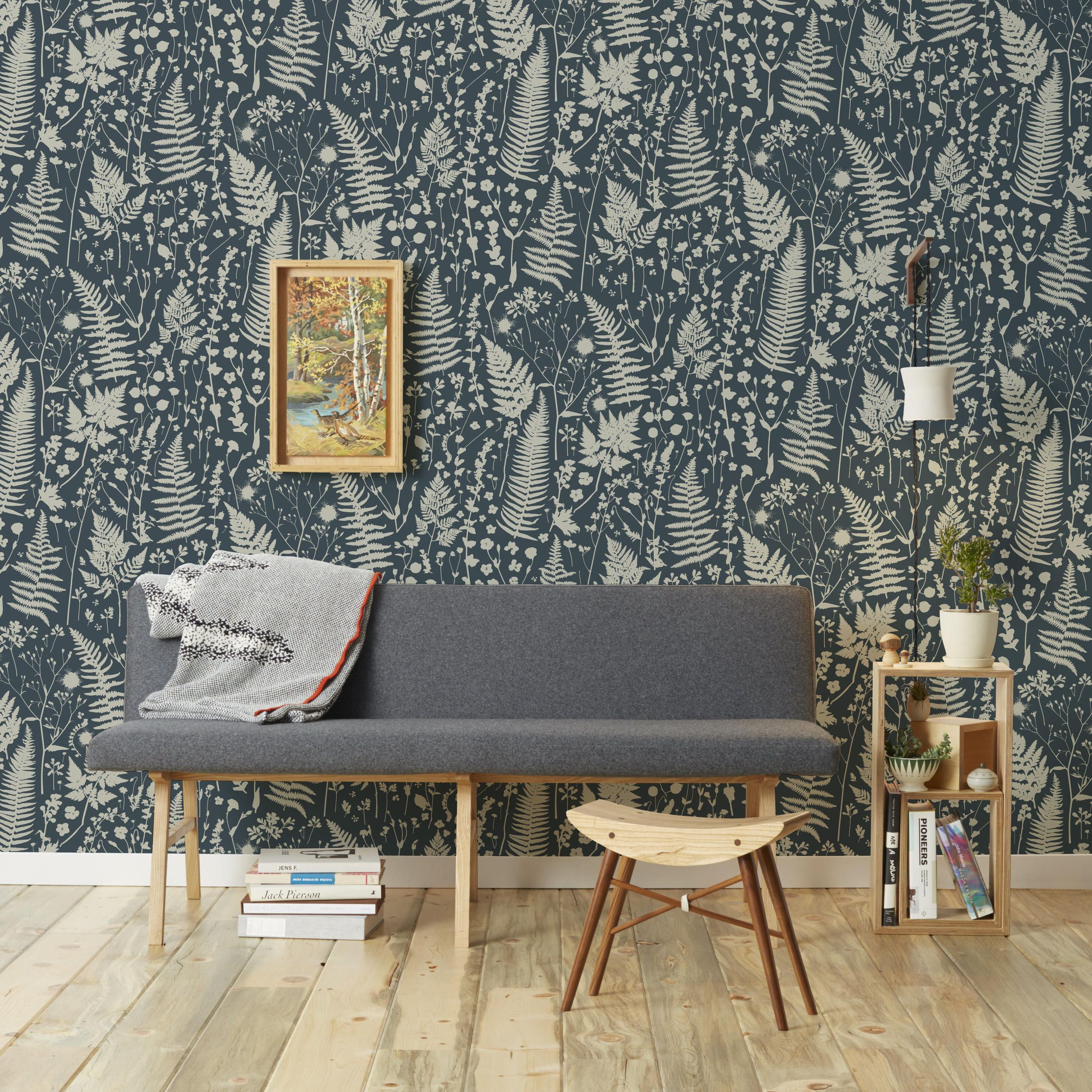 Le Papier Peint Est Il Recyclable forage hand-screened wallpaper | home decor, decor, colorful