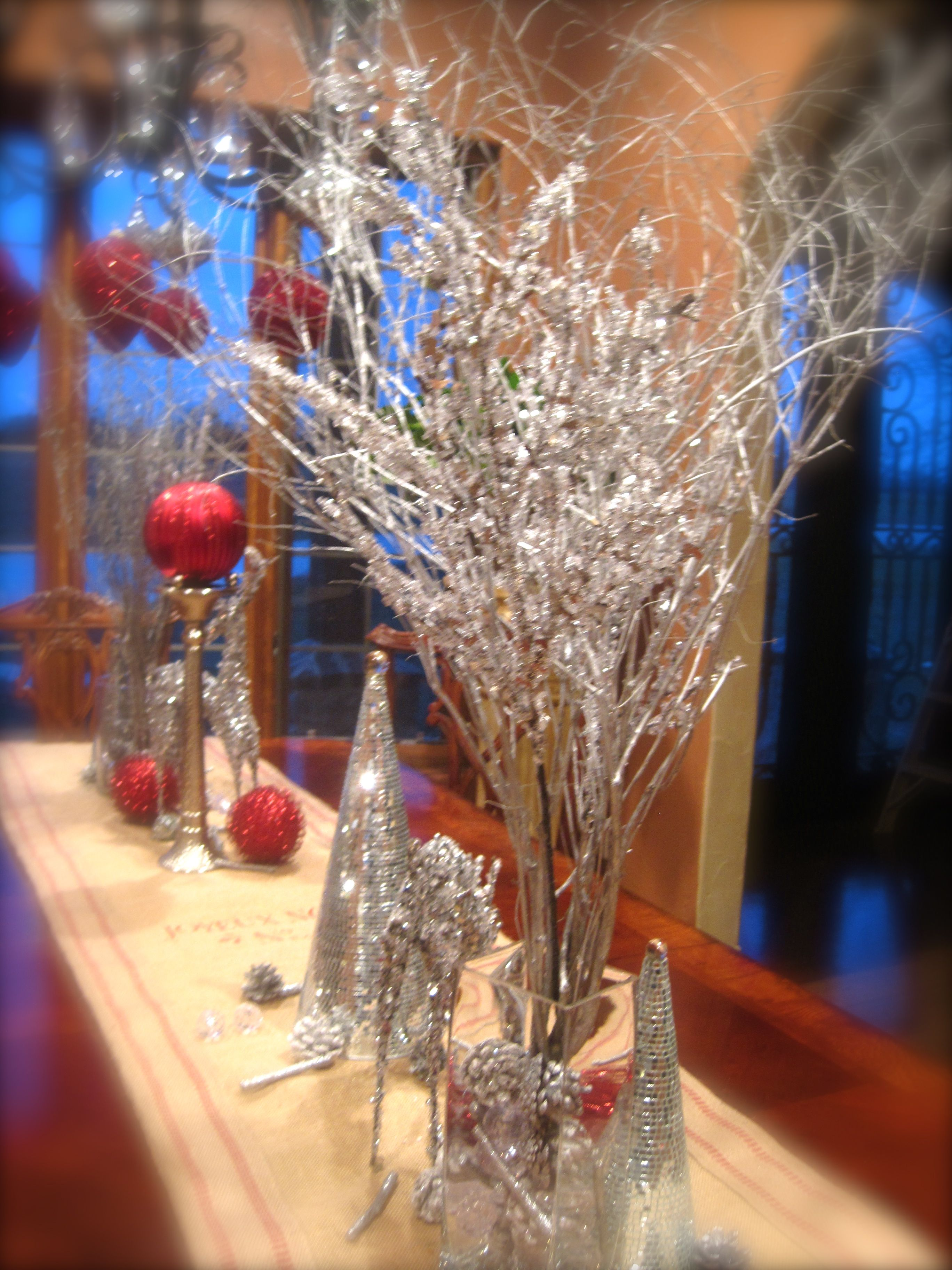 Beautiful Silver Sparkle Crystal Table Decorations