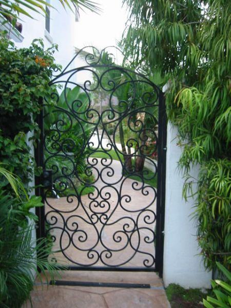 Custom Decorative Iron Gates Wrought Iron Gates Courtyard Entry