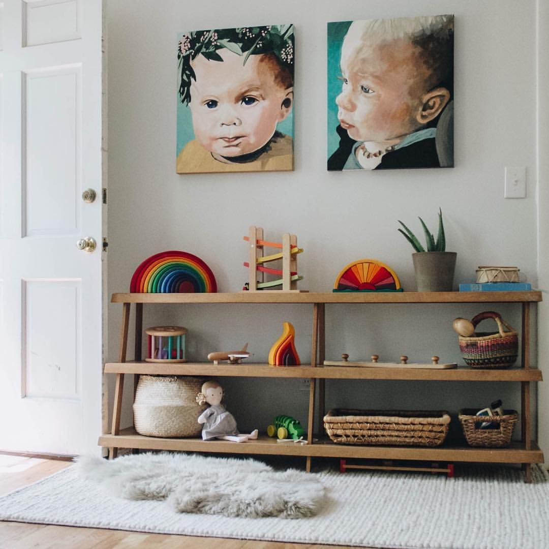 Playroom montessori waldorf inspired babies for Montessori kinderzimmer