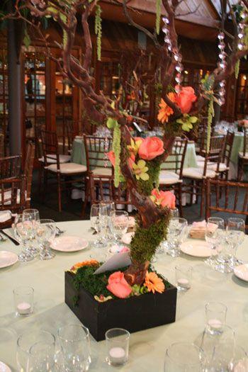 Diy Flowers Manzanita Branch Centerpieces Branch Centerpieces