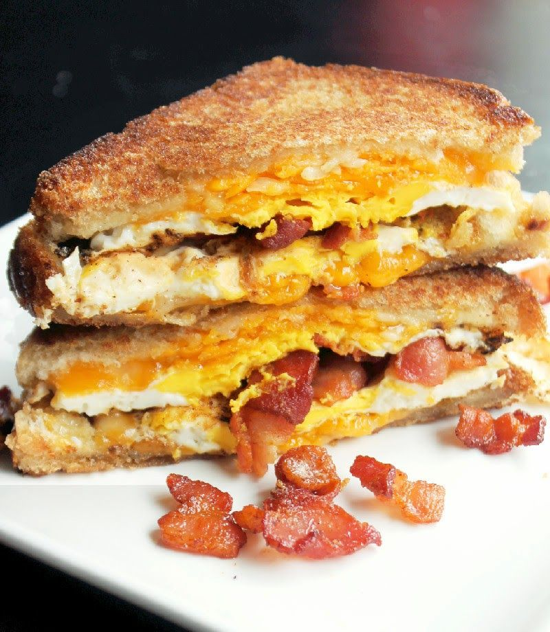 Bacon Egg and Cheese Grilled Cheese Sandwich   Recipe   Bacon ...