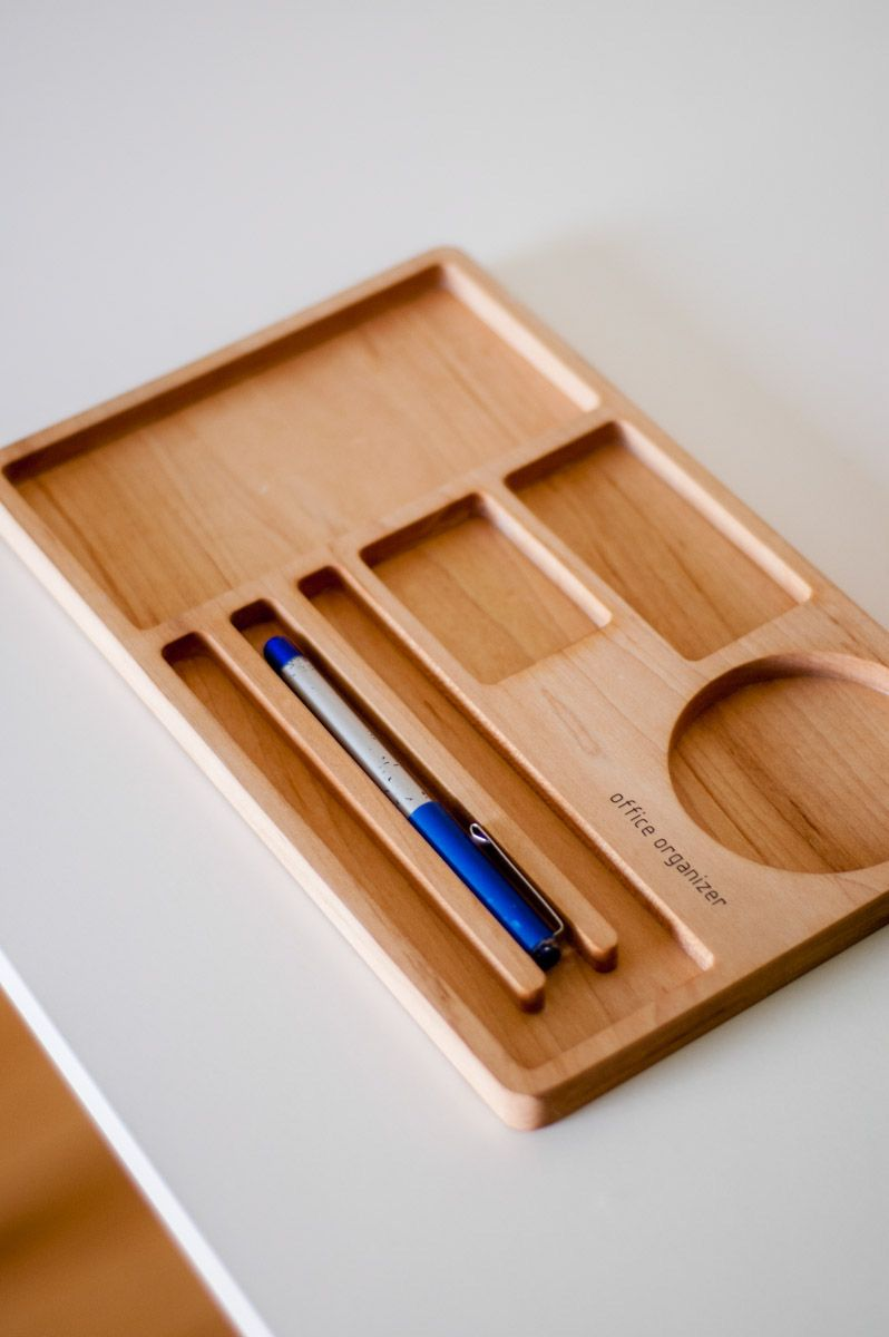 Pin By Ryan Coulter On Valet Tray Wooden Desk Organizer Wooden Pen Holder Wooden Organizer