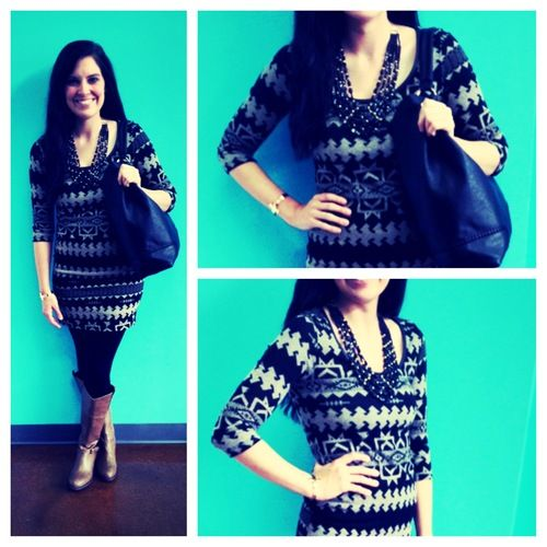Aztec Print Dress, $39.00