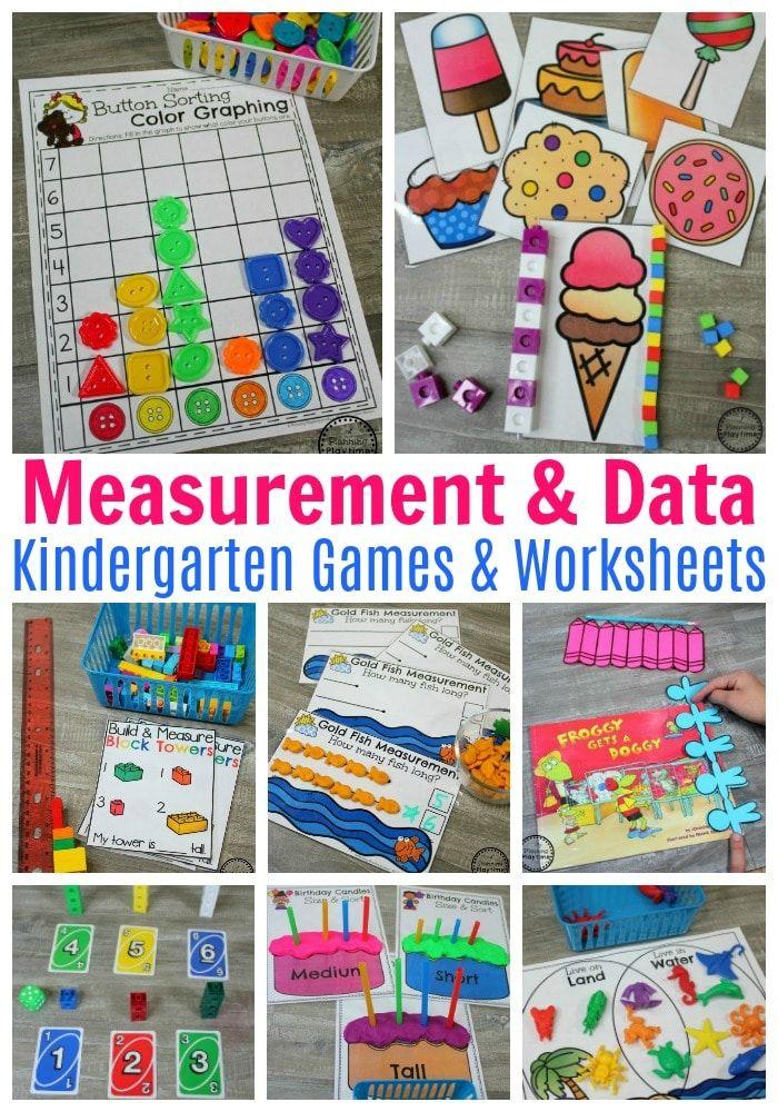 Measurement Worksheets Quiet Time Pinterest Math Kindergarten