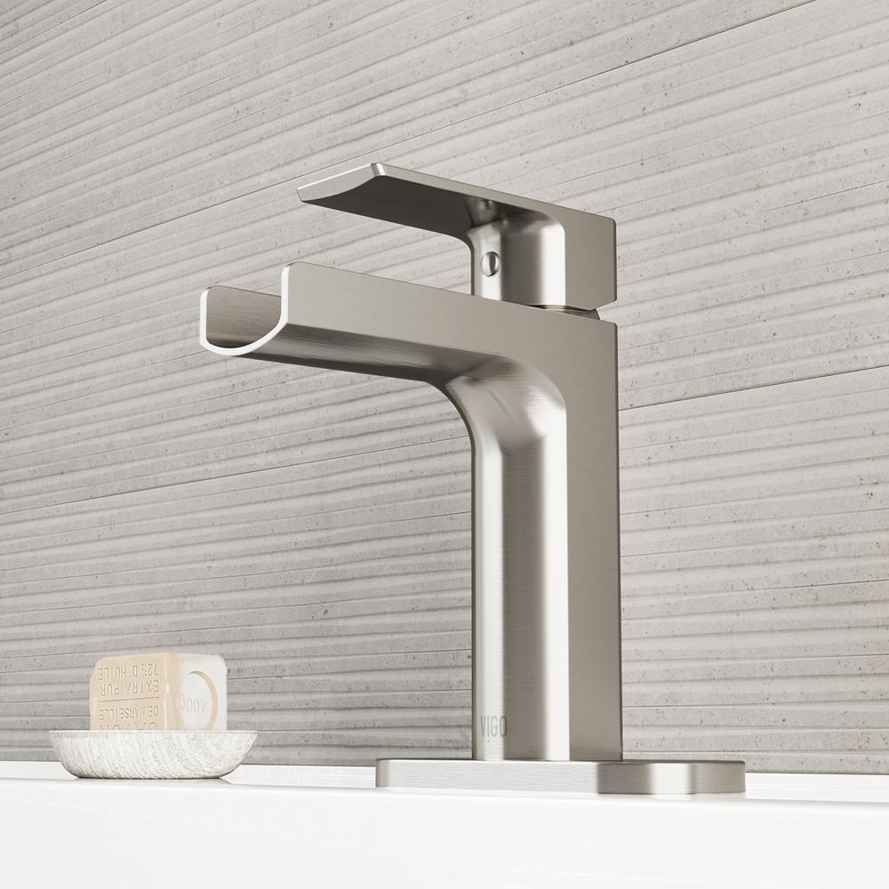 Vigo Ileana Single Hole Single Handle Bathroom Faucet With Deck Plate In Brushed Nickel Vg01042bnk1 The Home Depot Single Hole Bathroom Faucet Bathroom Faucets Single Handle Bathroom Faucet [ 1000 x 1000 Pixel ]