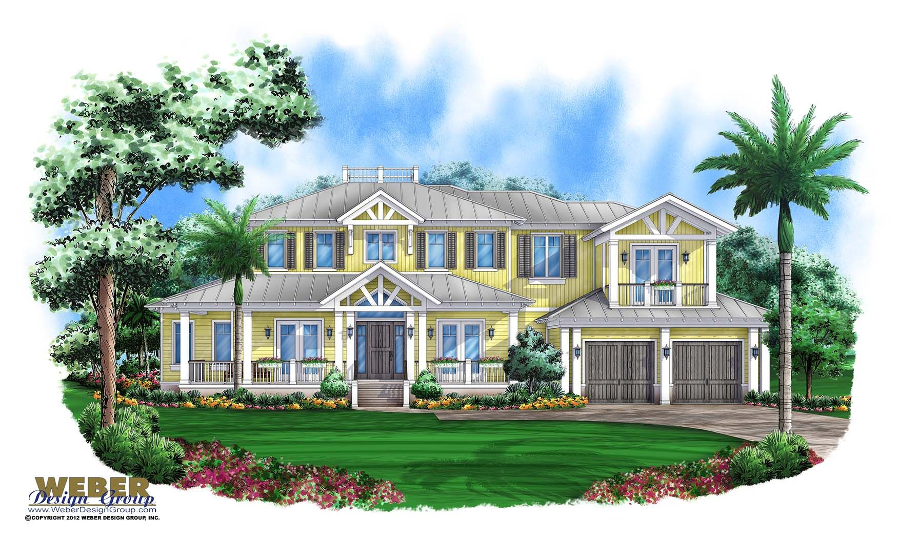 Coastal House Plan Old Florida Style Key West Home Floor