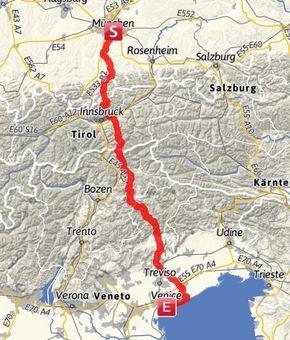 Traumpfad Munchen Venedig Komplett Reisen Alpenuberquerung